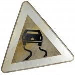 Metal road sign No. 3
